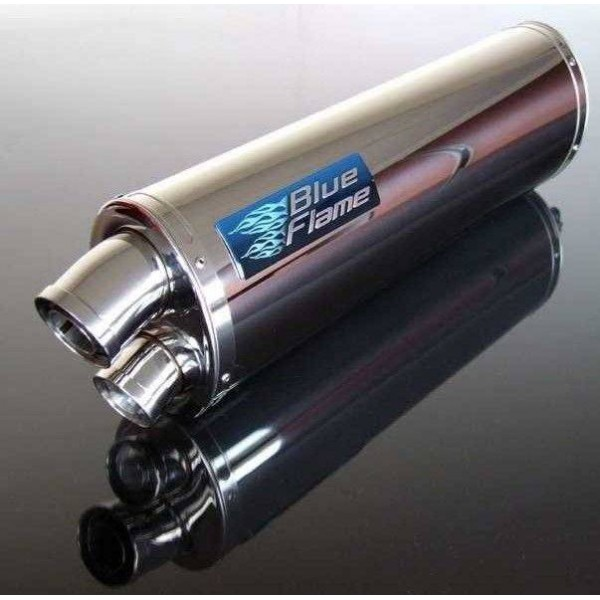 ROYAL ENFIELD HIMALAYAN 2016-2019 BLUEFLAME STAINLESS STEEL TWIN PORT EXHAUST SILENCER