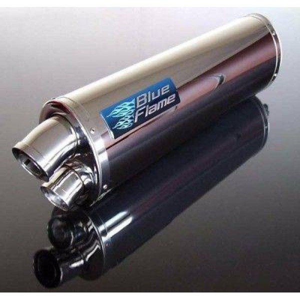 BMW F800R 2013-2019 BLUEFLAME STAINLESS STEEL TWIN PORT EXHAUST SILENCER MUFFLER