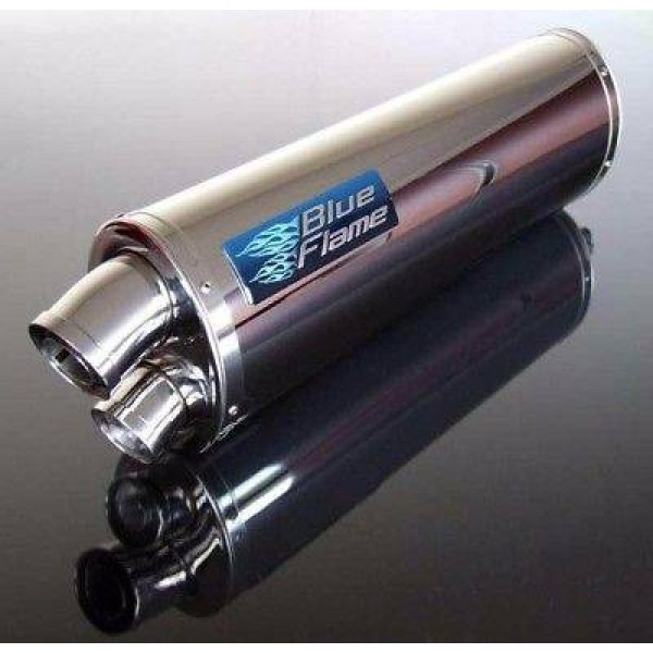 TRIUMPH 955i SPEED TRIPLE 2001-2004 BLUEFLAME STAINLESS STEEL TWIN PORT EXHAUST