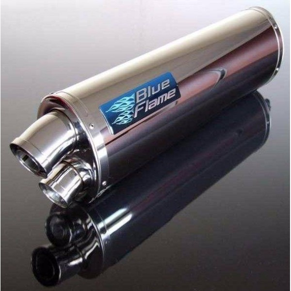 HONDA CBR500R 2012-ON BLUEFLAME STAINLESS STEEL TWIN PORT EXHAUST SILENCER