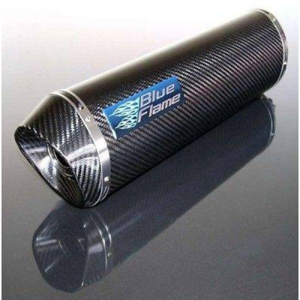 HONDA VFR800 1997-2002 BLUEFLAME CARBON EXHAUST SILENCER MUFFLER