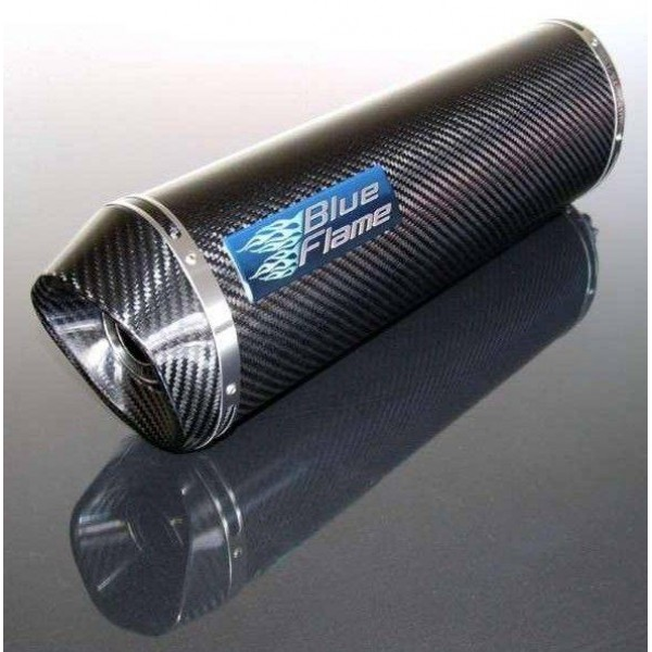 BMW F800 ST (FLARED END) 2006-2014 BLUEFLAME CARBON EXHAUST SILENCER MUFFLER