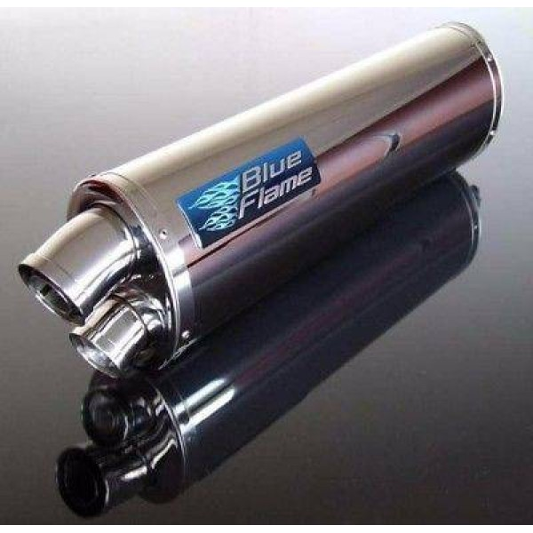 TRIUMPH DAYTONA 955i 2001-2006 BLUEFLAME STAINLESS STEEL TWIN PORT EXHAUST SILENCER
