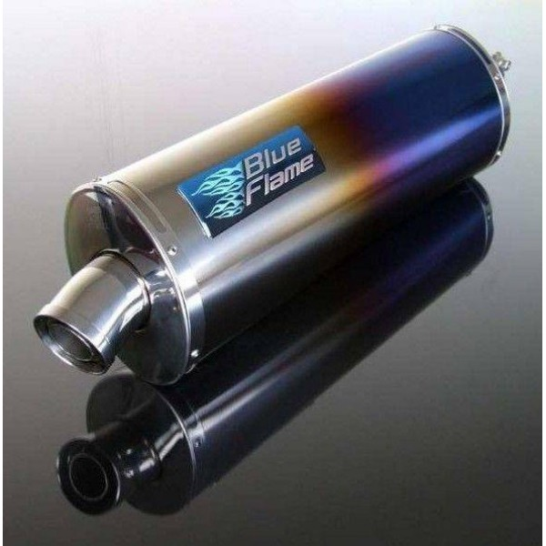 TRIUMPH TIGER SPORT 1050 2007-2015 BLUEFLAME COLOURED TITANIUM SINGLE PORT EXHAUST