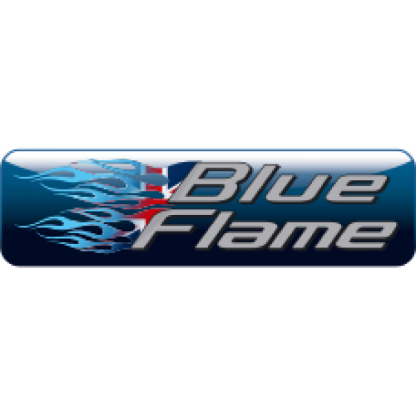 Blueflame Factory Exhaust Silencer Label sticker